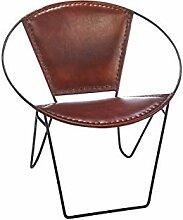 Kobolo Stuhl Ledersessel Lederstuhl mit