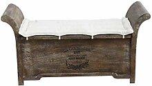 Kobolo Truhenbank Sitzbank Vintage aus Holz Braun
