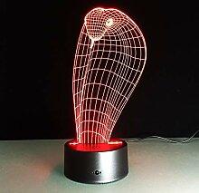 Kobra-Schlange 3D Lampe Nachtlicht Mood Light