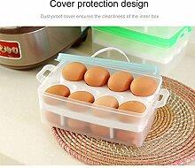 KOBWA 24 Ei Halter Kühlschrank Aufbewahrungsbox