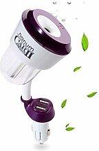 KOBWA Auto Luftbefeuchter,Portable Mini Auto Aroma Diffuser Luftbefeuchter mit USB Auto-Ladegerät-Anschluss,Ultraschall ätherische Öl Diffusor Mister für Auto