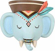 KOBWA Blumentopf, Elefantentopf, Wandmontage,