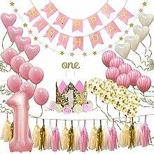 KOBWA Dekorationsset für den ersten Geburtstag,