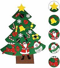 KOBWA Heimwerker Filz Weihnachtsbaum, Set mit 23