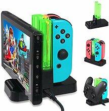 KOBWA Ladestation für Nintendo Switch,