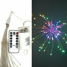 KOBWA LED Lichterkette, 120 LED Kupferdraht