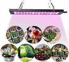 KOBWA LED Pflanzenlampe, Pflanzenleuchte Ultra Dünn, 15W 75 LEDs Blau & Rot Licht Einstellbare Wachsen Lichter Innengarten Pflanze Wachsen Licht Hängeleuchte für Zimmerpflanzen, Blumen und Gemüse