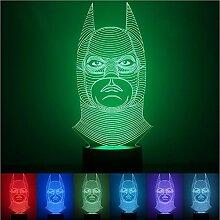 KOBWA LED-Schreibtischleuchte mit 3D-Illusion,