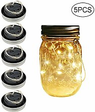 Kobwa Mason Jar Solar-Lichterkette mit 20 LEDs,