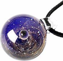 KOBWA Natürliche Glas Anhänger Halskette Schmuck