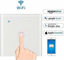KOBWA Smart WLAN-Lichtschalter, WLAN-Lichtschalter in-wall Fernbedienung, Sensor-Schalter, Sonoff mit Zeitschaltuhr-App, funktioniert mit Alexa, Google Home-Automatisierung, One Control