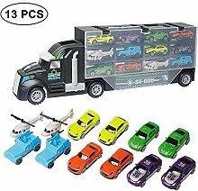 KOBWA Transportwagen LKW Spielzeug mit 10 Autos