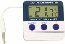 Koch 10881 Digitales Thermometer, Plastik, weiß, 6 x 6,2 cm