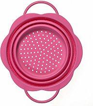 Kochblume Faltsieb Mittel (Pink)