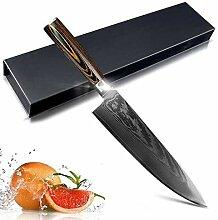 Kochmesser hackmesser knife Damaskus Messer