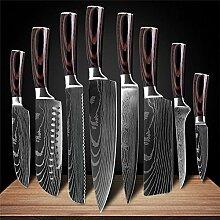 Kochmesser Küchenmesser Edelstahl Damaskus Muster