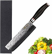 Kochmesser Nakiri 6,5 Zoll Usuba Japanische Hammer