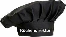Kochmütze Küchendirektor Küche Sevice Kochen Backen, Farbe schwarz