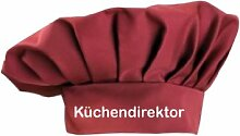 Kochmütze Küchendirektor Küche Sevice Kochen Backen, Farbe cherry