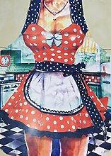 Kochschürze Frauen, sexy Schürzen für Damen, lustige Grillschürzen für den Polterabend (Dirndl)