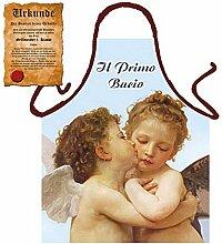 Kochschürze mir Engeln `Der ertse Kuss` : I Primo Bacio !! Mit GRATIS Urkunde !!