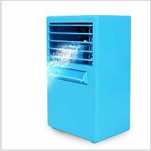 Koedu Mini Air Conditioner Fan Home Office Desktop Kleiner Ventilator Kühlschrank Fan Luftbefeuchter (Blau)