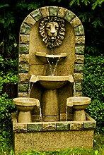 Köhko Springbrunnen Leipzig Gartenbrunnen mit Löwenkopf Brunnen für Garten und Terrasse inkl. Pumpe