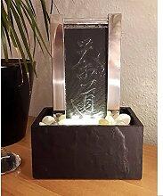 Köhko Tischbrunnen Teezeremonie 25009 Luftbefeuchter mit LED-Beleuchtung