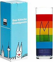 Köln Kölsch Glas ~ Regenbogen Dom ~ im