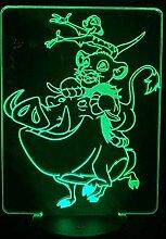 König der Löwen 3D NachtlichtOptische