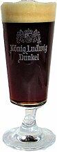 König Ludwig / Bier Glas/Dunkel/Bierglas/Gläser