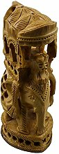 Königliche indische Elefanten Statue Skulptur aus Holz schnitzen-Home Dekoration Tier Figur