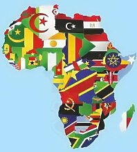Königsbanner Hissflagge Afrika - 100 x 150cm -