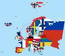 Königsbanner Hochformatflagge Europa - 120 x