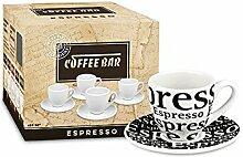 Könitz 4er Coffee Bar No. 1 - Espressoset - Schrif