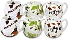 Könitz Becher Choco - Tea Coffee (6-tlg.)