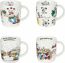 Könitz Becher Kaffee Becher Serie Asterix Set 4