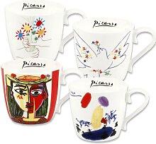 Könitz Becher Picasso (4-tlg.) Einheitsgröße