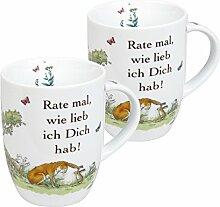 Könitz Becher, Porzellan, Weiß, 2 TLG