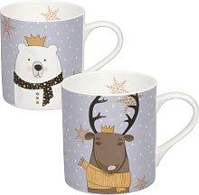 Könitz Becher Scarfed Animals - Polar Beer & Deer