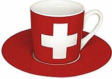Könitz Espressoset Flaggen Schweiz