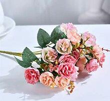 Köpfe/Blumenstrauß Seide Rose Europäischen Stil