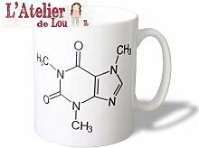 Koffein (und Tein) Strukturformel Keramik Tasse Kaffeebecher - Originelle Geschenkidee - Spülmachinenfes