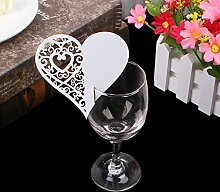 Kofun-Hochzeit Einladung Herz Tabelle Mark