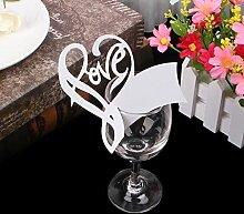 Kofun Hochzeitseinladungskarte Herz Tischmarke