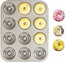 Kohlenstoffstahl Donut, 6 Mulden +12 Mulden
