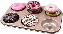 Kohlenstoffstahl Donut, 6 Mulden