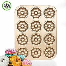 Kohlenstoffstahl Donut Formen, 12 Mulden