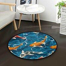 Koi Karpfen Japanischer Teppich für Wohnzimmer