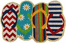 Kokos-Fußmatte mit versetzt angeordneten